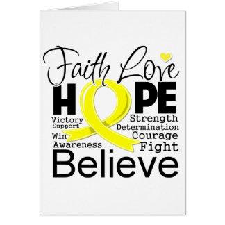 Testicular Cancer Typographic Faith Love Hope Card