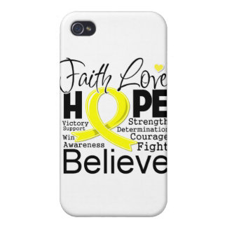 Testicular Cancer Typographic Faith Love Hope Cases For iPhone 4