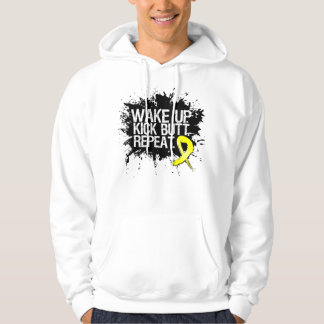 Testicular Cancer Wake Up Kick Butt Repeat Hoodie