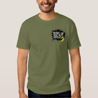 Testicular Cancer Wake Up Kick Butt Repeat T-shirts