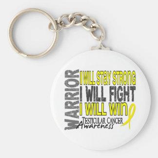 Testicular Cancer Warrior Basic Round Button Keychain