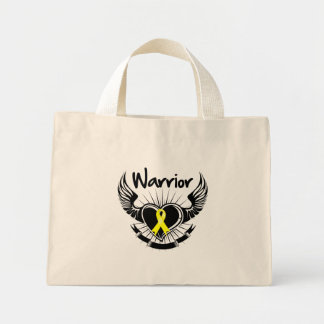 Testicular Cancer Warrior Fighter Wings Canvas Bags