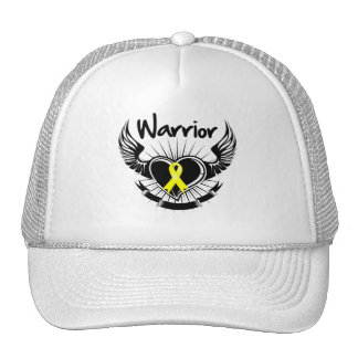 Testicular Cancer Warrior Fighter Wings Mesh Hats