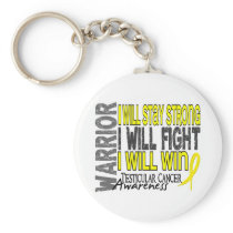 Testicular Cancer Warrior Keychain