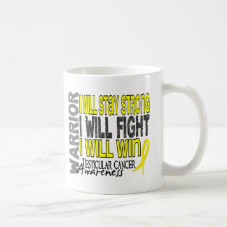 Testicular Cancer Warrior Classic White Coffee Mug
