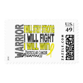 Testicular Cancer Warrior Postage Stamps