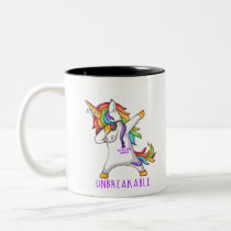 TESTICULAR CANCER Warrior Unbreakable Two-Tone Coffee Mug