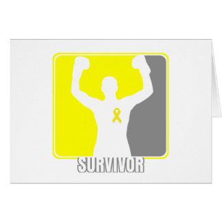 Testicular Cancer Winning Survivor Card