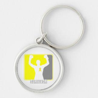 Testicular Cancer Winning Survivor Keychain