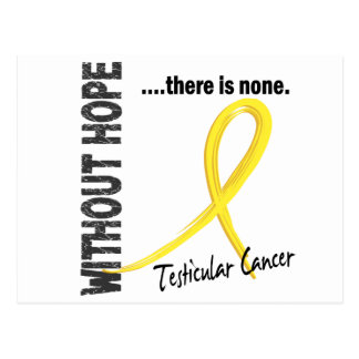 Testicular Cancer Without Hope 1 Postcard