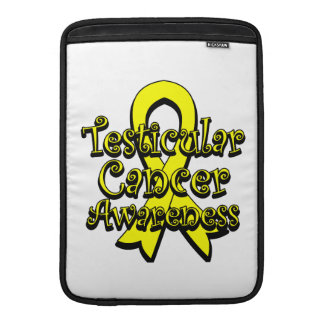 Testicular Cancer Yellow Awareness Ribbon MacBook Air Sleeves