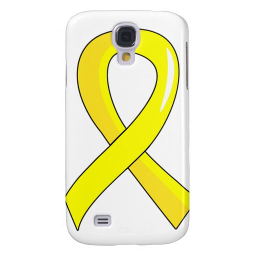 Testicular Cancer Yellow Ribbon 3 Samsung Galaxy S4 Covers