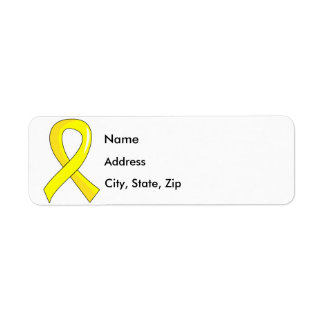 Testicular Cancer Yellow Ribbon 3 Label
