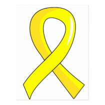 Testicular Cancer Yellow Ribbon 3 Postcard