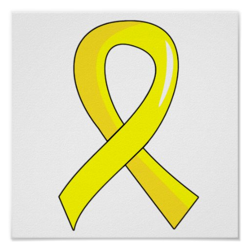 Testicular cancer yellow ribbon 3 print