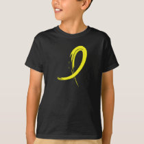 Testicular Cancer Yellow Ribbon A4 T-Shirt