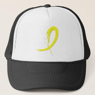 Testicular Cancer Yellow Ribbon A4 Trucker Hat