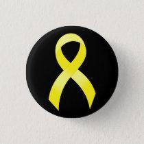 Testicular Cancer Yellow Ribbon Button