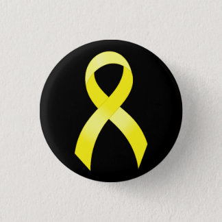 Testicular Cancer Yellow Ribbon Button