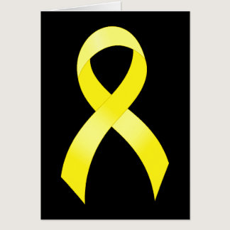 Testicular Cancer Yellow Ribbon Card