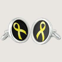 Testicular Cancer Yellow Ribbon Cufflinks