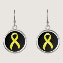 Testicular Cancer Yellow Ribbon Earrings