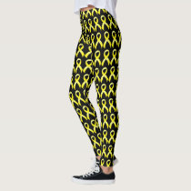 Testicular Cancer Yellow Ribbon Leggings