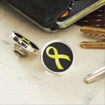 Testicular Cancer Yellow Ribbon Pin