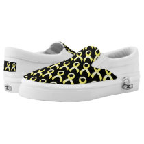 Testicular Cancer Yellow Ribbon Slip-On Sneakers