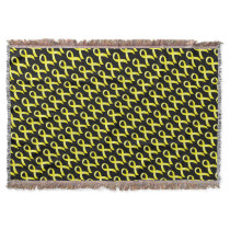 Testicular Cancer Yellow Ribbon Throw
