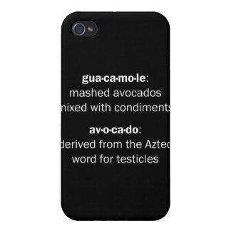Testículos del Guacamole iPhone 4 Cárcasas