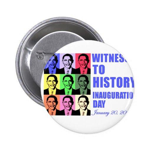 Testigo a la historia: Inauguración de Obama Pins