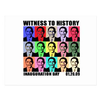 Testigo a la historia: Inauguración de Obama Postales