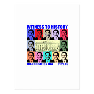 Testigo a la historia: Inauguración de Obama Tarjetas Postales
