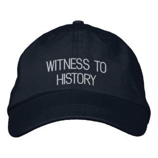 Testigo al gorra de la historia gorras bordadas