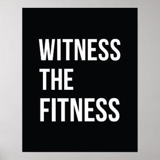 Testigo de la cita de entrenamiento el blanco del póster