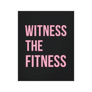 Testigo de la cita de entrenamiento el rosa del ne lona estirada galerias