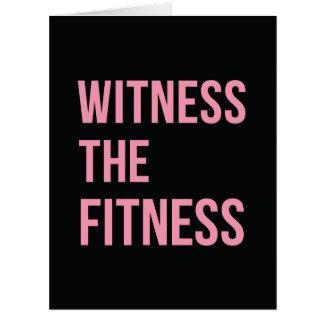 Testigo de la cita de entrenamiento el rosa del tarjeta de felicitación grande
