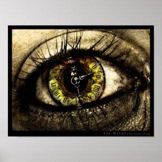 Testigo del ojo póster
