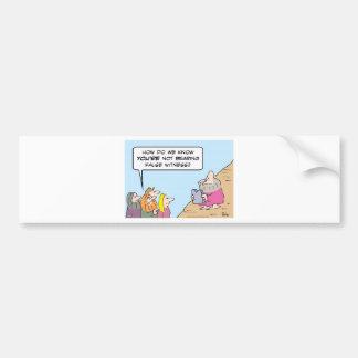 Testigo falso de transporte de los mandamientos de etiqueta de parachoque
