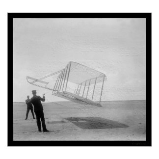 Testing Glider Wilbur and Orville 1901 Poster
