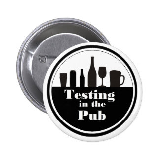 Testing In The Pub branded merchandise Pinback Button
