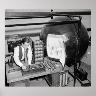 Testing Light Bulbs: 1938 Poster
