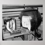 Testing Light Bulbs: 1938 Print