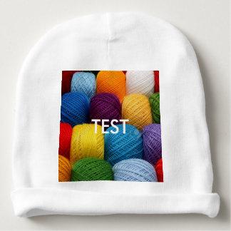 testing yarn baby beanie
