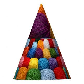 testing yarn party hat