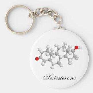 Testosterone Basic Round Button Keychain