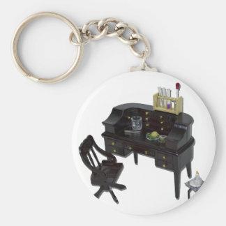 TestTubeBeakerDesk110511 Keychain