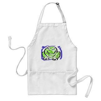 Testy frog adult apron