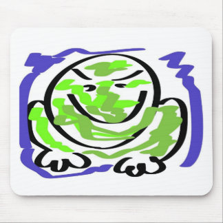 Testy frog mouse pad